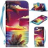 6S Plus Case,iPhone 6S Plus Case,With Strap Wristlet Slim PU Leather Case Wallet Cases Magnetic Closure Case For... - B019C3GU22