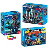 Playmobil Dragon Land Set: Great Dragon Castle, Dungeon And Advent Calendar Treasure Battle With Dimple Ring And...