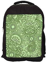 Snoogg Fabric Pattern Light Green Backpack Rucksack School Travel Unisex Casual Canvas Bag Bookbag Satchel