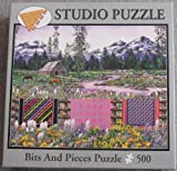 Bits And Pieces 500 Piece Jigsaw Puzzle - Three Sisters Quilts by Diane Phalen