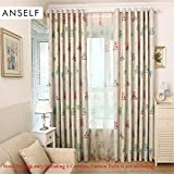 Alcoa Prime Anself 3 Size Blackout Curtains Cartoon Babys Bedroom Cortinas Cute Owl Printed Teens Thick Curtains...
