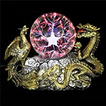 Alcoa Prime New Retro Twin Bliss Dragon Plasma Thunder Magic Ball Sphere Lamp Electricity Effect Touch-sensitive...