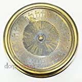 Antique Maritime Brass Compass + Different Cities Time Viewer - Dual Benefit Of Money Vintage Reproduction