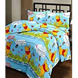 CrazeVilla Winnie The Pooh Cartoon Print Single Bed Reversible Ac Blanket/Dohar For Kids