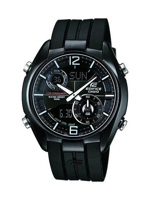 Casio ERA-100PB-1AVUEF - Reloj analógico y digital de cuarzo para hombre con correa de resina, color negro