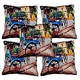 Aakarshan Digital Print Cushion Cover Set (5 Pcs) (30.5 Cm * 30.5 Cm)
