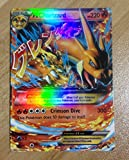 Newest Edition Rare Pokemon Cards Mega EX 18 Special Cards Gold Flash Light No repeat