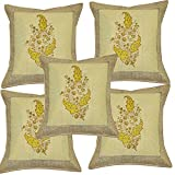 Home Decor Hand Block Print Work Indian Cotton Cushion Cover Set 16 X 16 Inches