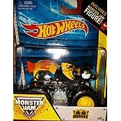 Nitro Hornet Monster Jam Truck Includes Monster Jam Figure Hot Wheels Off-road 2014 #37 1:64 Scale