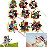 "Dazzling Toys Paradise Party Pinwheels - Pack Of 12 - Multi Flamboyant Colors, Pinwheel Measures: 6"" Stick Measures..."