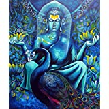 Tallenge - Buddha With Peacock - A3 Size Rolled Poster