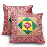 Jaipur RagaEthnic Style Floral Design 2 Pc Fancy Looking Cushion Covers Set
