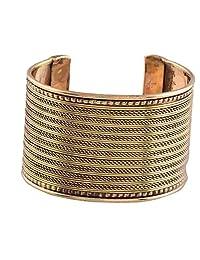 Ganapathy Gems Oxidised Brass Plated Handcuff (8091)