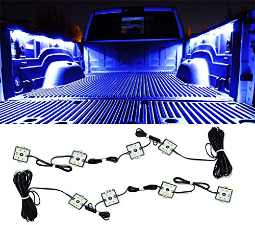 LED Bed Lights Truck Lighting Accessories with 48 Super Bright LED Glow Fits for Pickup Truck Bed Cargo Area LED Lighting Kit Color White