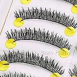 10 Pairs/set Natural Crisscross False Eyelash Black Soft Curly Handmade False Eyelash Set # 21383