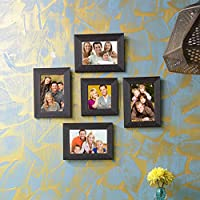 Sifty Collection Collage Photo Frames (4x6) 4, (4x4) 1 Set Of 5 Pcs