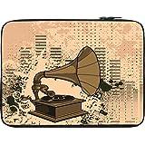 Snoogg Gramophone Music 12 To 12.6 Inch Laptop Netbook Notebook Slipcase Sleeve