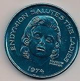 MARILYN MONROE 1974 New Orleans Mardi Gras Turquoise Doubloon Endymion Parade TOKEN