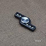 New Aluminum Alloy Hand Spinner Steel Ball EDC Finger Spinner Fidget Spinner (Black)