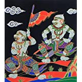 "Dolls Of India ""Monkey Soldiers Of Sugriva"" Screen Print On Silk - Unframed (31.75 X 29.21 Centimeters)"