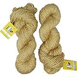 Vardhman Charming Acrylic And Nylon Knitting Wool Brass (200 Gm) Pack Of 2 (200 Gm)