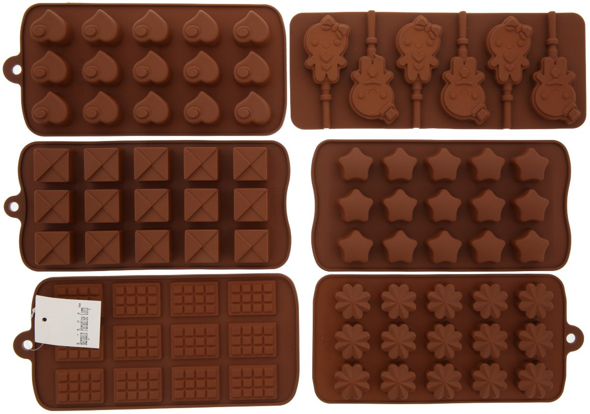6pc Chocolate Molds by Bargain...
