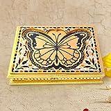 Handicrafts Gift House Home Décor Handicrafts|Decorative Handicrafts|Home Décor| Golden Butterfly Meenakari Designer Dryfruit Box 434