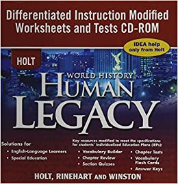 Amazon.com: Holt World History ~ CDROM ~ Human Legacy ~ Differentiated Instruction Modified