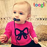 Baby Teething Necklace For Mom by Toogli - 100% Organic Nursing Necklace For Mom to Wear - FREE Bonus Teething Guide - BPA, Lead and Phthalate Free - Lifetime No-Hassle Satisfaction Guarantee (Smoky Black)