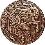 2015 Collection skullcoins TAURUS Memento Mori Zodiac Skull Horoscope Copper Coin 2015 Dollar Perfect Uncirculated