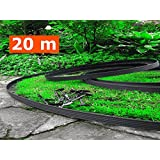 "DIY.PLUS.GARDEN 20 Meters , Black : ""BUY IN UK"" 20 Meters - Flexible Plastic Lawn Edging With 100 Securing Pegs - Anchor Included-Flexible Garden Edging, Flexible Lawn Edging, Plastic Garden Edging, Flexible Garden Lawn, Garden Ideas, Garden Des"