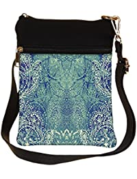 Snoogg Paisley Formation Cross Body Tote Bag / Shoulder Sling Carry Bag