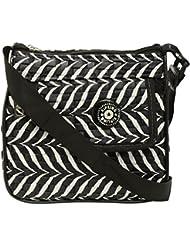 Lucky Enterprises Women's Sling Bag (Black And White, LK_HB_31)