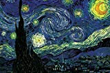 Seven Rays Starry Night by Vincent van Gogh (Small) Poster
