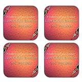 MeSleep Happy Raksha Bandhan Wooden Coaster-Set Of 4 - B013LEJF2K
