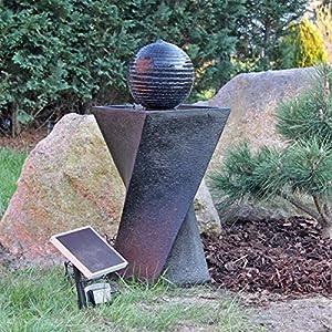 Solar Springbrunnen Set NSP4 mit Akku und LED Beleuchtung