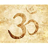 ArtzFolio Om Symbol - Large Size 30.0 Inch X 24.0 Inch - FRAMED CANVAS Wall Paintings With 1 Inch THICK WOODEN STRETCHING MOUNT : DIGITAL PRINT Wall Posters Art Panel Like Hand Paintings : Home Interior Wall Décor Photo Gifts & Decorative Paint