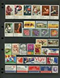 COMPLETE MINT SET OF POSTAGE STAMPS ISSUED IN THE YEAR 1974 BY THE U.S. POST OFFICE DEPT (35 Stamps)