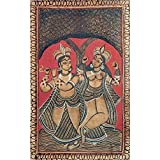 DollsofIndia Radha Krishna - Kalighat Painting - Water Color On Paper - Unframed - B00LLBPUOS