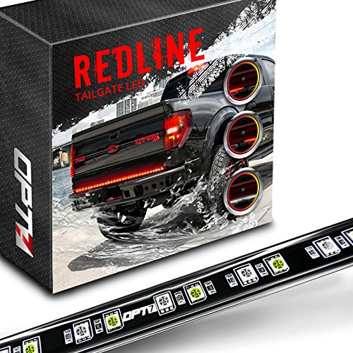 48″ Redline LED Tailgate Light Bar – TriCore LED – Weatherproof – Full Function – 2yr Warranty – Easy Screw-Less Install – Durable Rigid Aluminum – Reverse Signal Running Brake – Rain or Snow