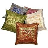 Ufc Mart Multi -Color Jacquard Cushion Cover 5 Pc. Set, Color: Multi-Color, #Ufc00455