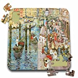 BLN American Art Fine Art Collection - The Grand Canal, Venice by Maurice Prendergast American Artist - 10x10 Inch Puzzle (pzl_126923_2)