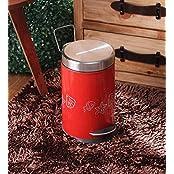 King International Red Stainless Steel 5 L Dustbin
