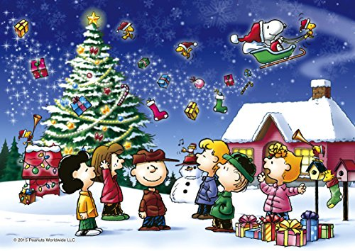 108-piece jigsaw puzzle PEANUTS Peanuts Christmas shiny puzzle (18.2x25.7cm)
