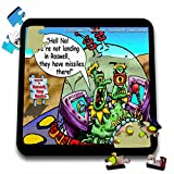 Londons Times Funny Aliens Cartoons - Aliens Over Roswell - 10x10 Inch Puzzle (pzl_2923_2)