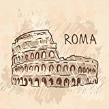 Pitaara Box Colosseum Rome Italy - SMALL Size 16.0 Inch X 16.0 Inch - FRAMED CANVAS Wall Paintings With 6mm (0.24...