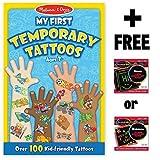 Blue: My First Temporary Tattoos - 100+ Kid-Friendly Tattoos + FREE Melissa & Doug Scratch Art Mini- - B00QFYSPA2