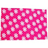 QUICK DRY- BABY BED PROTECTOR WATERPROOF SHEET SIZE-MIDIUM ( FLOWER PRINT PINK )