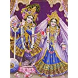 "Dolls Of India ""Radha And Krishna"" Reprint On Paper - Unframed (38.10 X 29.21 Centimeters)"