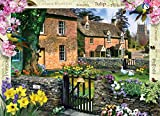 MasterPieces Puzzle Company Flower Cottages Tulip Cottage Jigsaw Puzzle (1000-Piece), Art by Howard Robinson